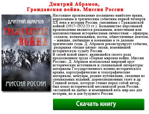 Дмитрий Абрамов, Гражданская война. Миссия России